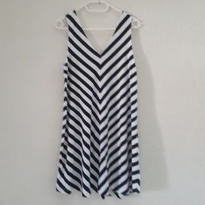 Dark blue & white LOFT dress